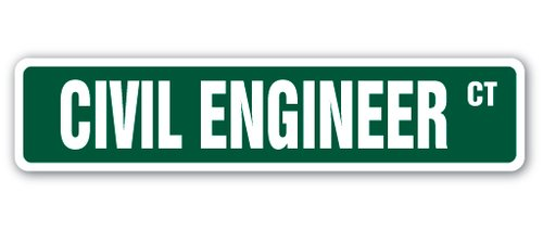 [SignJoker] CIVIL ENGINEER Street Sign city code rule drafting blue print engineering gift Wall Plaque Decoration - Engineer Street Sign