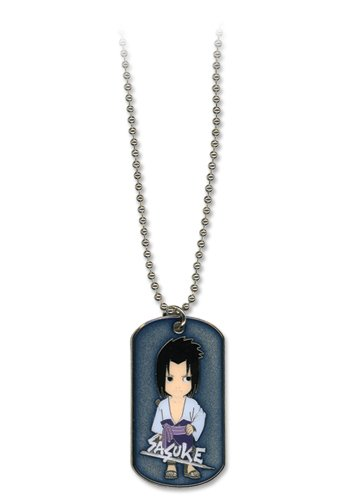uke Dog Tag Necklace (Naruto Shippuden Necklace)