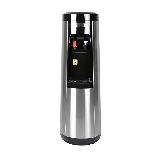 Stainless Steel Bottleless Water Cooler/Dispenser by Magic Mountain Water Products Water Pyramid Series (Compact Reverse Osmosis (R/O) 50 GPD, Hot & Cold) by Water Pyramid