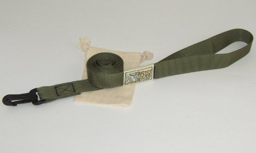 Beach and Snow Leash by WOSS Gear, 1″ webbing by 5 Foot long, Olive, Made in USA, My Pet Supplies
