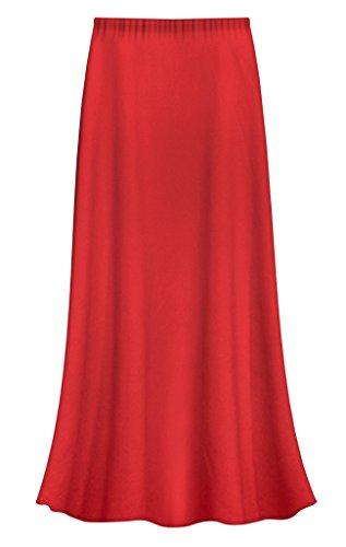 Sanctuarie Designs Red Slinky Plus Size Supersize Skirt 2x