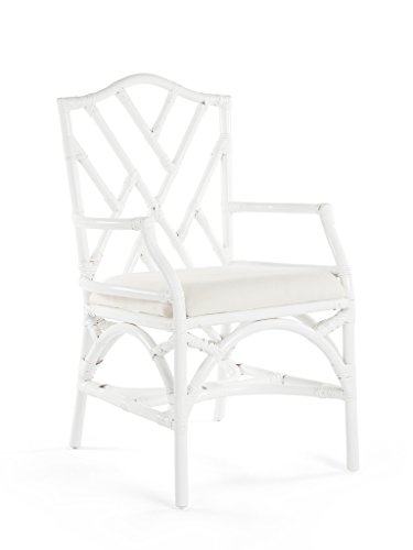 KOUBOO 1110073 Chippendale Dining Chair  , White (Outdoor Contract Manufacturers Furniture)