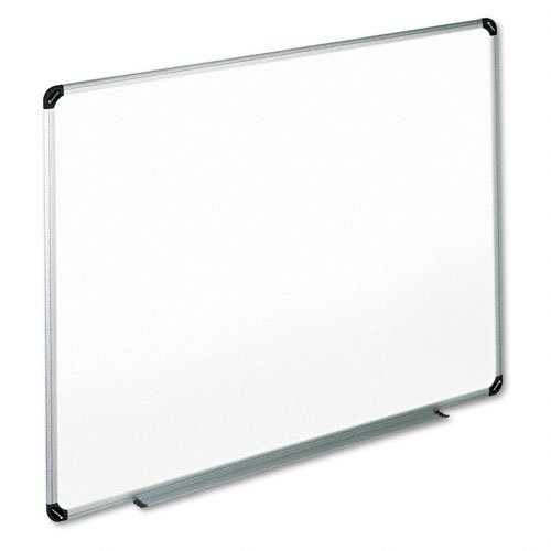 Universal 43735 Magnetic Steel Dry Erase Board, 72 x 48, White, Aluminum - Dry Steel Erase