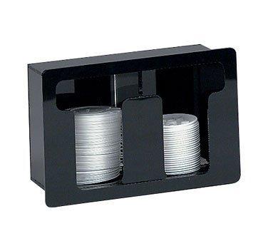 - Dispense Rite Black Acrylic Horizontal Built-in Lid Organizer, 7 1/4 x 11 x 5 3/8 inch -- 1 each. by Dispense Rite