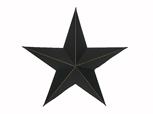 Primitive Star Decor - Craft Outlet Antique Star Wall Decor, 11-Inch, Black, Set of 2