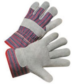 Radnor Small Economy Grade Split Leather Palm Gloves with Canvas Back and Safety Cuff - 12 Pairs/Dozen (2 Dozen)