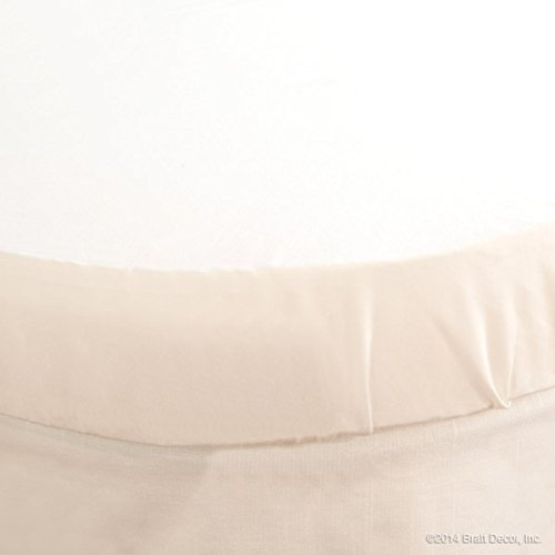 Bratt Decor classic round crib sheet soft white