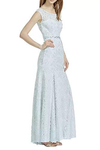 La Himmel Blau Partykleider Brautjungfernkleider Abendkleider Meerjungfrau Blau Neuheit Lang Himmel Edel Schulterfrei Marie Braut Spitze rwqHOrp