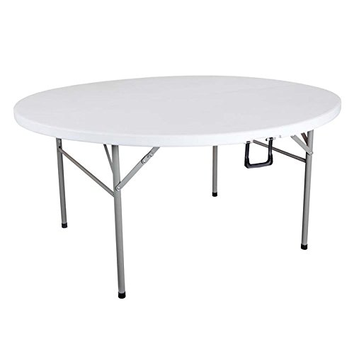 Bowery Hill 48'' Round Center Folding Utility Table in White by Bowery Hill