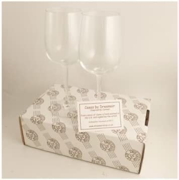10th Wedding Anniversary Wine Glasses Pair