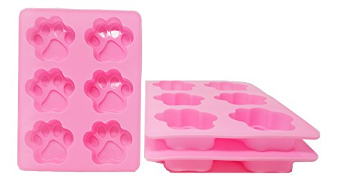 (3-Pack) Dog Paw Print Silicone Mold Chocolate Mold Cookie Candy Soap Resin