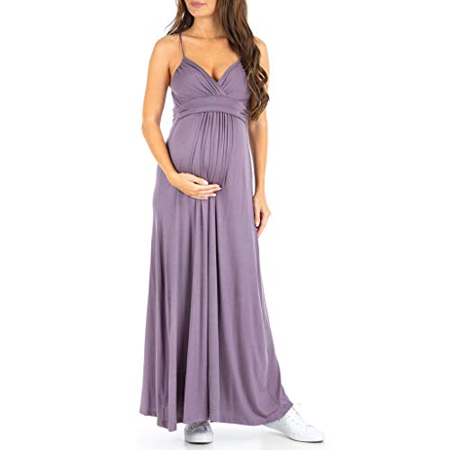 Womens Cami Strap Ruched Maternity Dress - Made in USA