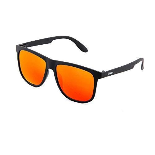 Naranja de TWIG espejo mujer sol MAGRITTE hombre degradadas Negro Gafas zHw7dz