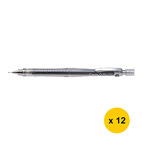 H-325 0.5mm Mechanical Pencil (12pcs) - Transparent (with Sticky Notes) [PIL0T]