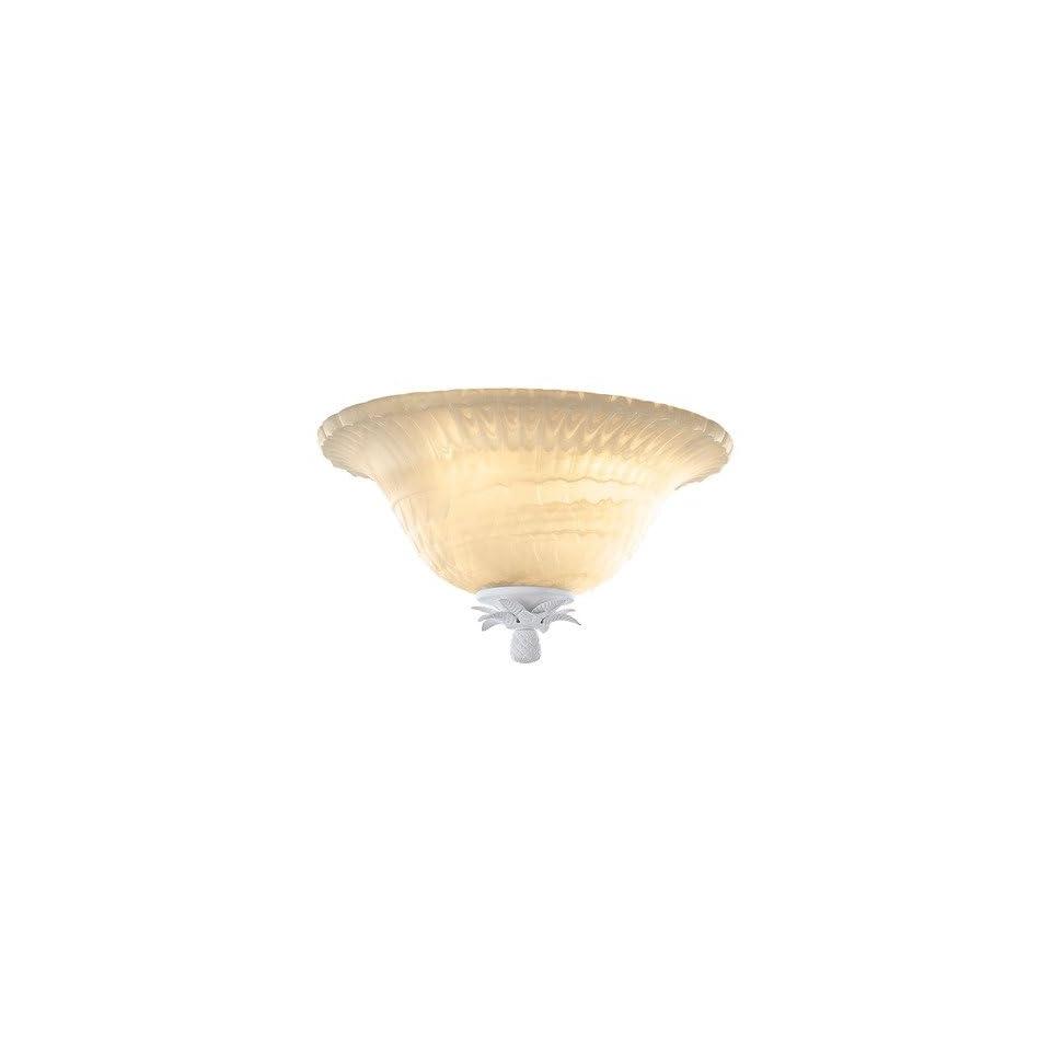 Monte Carlo Fan Company MC155 L Island Bowl Light Kit / Semi Flush Mountwith White Glass