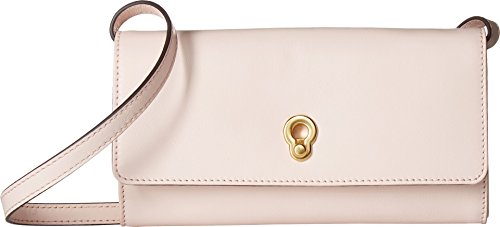 - Cole Haan Zoe Smartphone Crossbody Clutch Wallet, Peach Blush