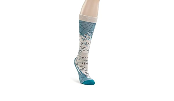 3f89ab9e45ac1 Amazon.com: World Map Blue Men's One Size Stretch Polyester Crew Socks:  Clothing