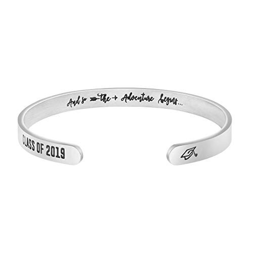 Joycuff Class of 2019 and So Adventure Begins Graduation Gift for her Jewelry Cuff -