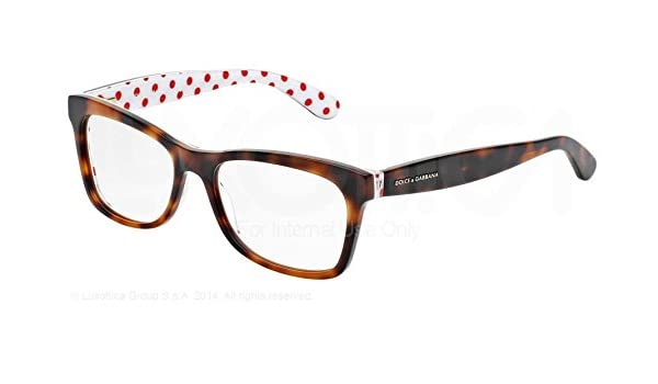 69310438181f Dolce & Gabbana DG3199 Eyeglasses-2872 Havana/Red/White-55mm: Amazon.ca:  Health & Personal Care