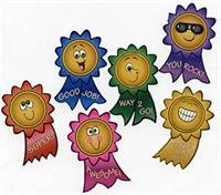 Award Stickers (100 Motivational Smile Face Roll Stickers, 1 Roll)