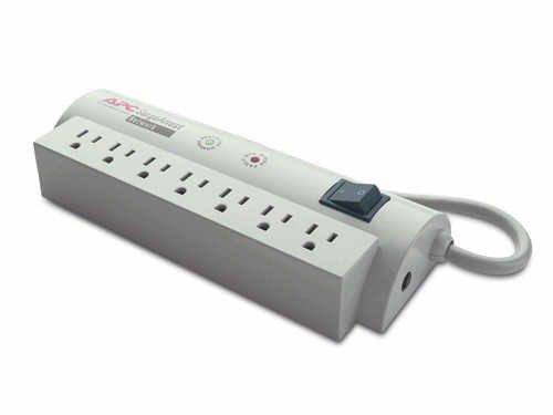 APC SurgeArrest Network 7 Outlets 120V - Receptacles: 7 x NEMA 5-15R - 480J - American Power Conversion (Net7 7 Outlet)
