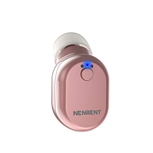 NENRENT S610 Bluetooth Earbud, Smallest Mini V4.1 Wireless Bluetooth Headset Headphone Earphone with Car Charger Mic Hands-Free Calls for iPhone iPad Samsung Galaxy LG HTC and Smartphones (Rose Gold)