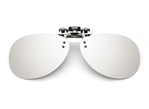 Silver VF up Sol en Gafas Clip Mujer ANNA Hombre Las amp; de GLS04 Flip Unisex ELSA Mercurio Polarizado qRnAUaw6gx