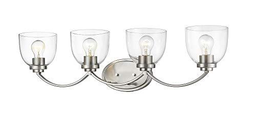 Z-Lite 460-4V-BN 4 Light Vanity, Brushed Nickel