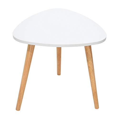 YRD TECH Living Nordic Minimalist Modern Irregular ShapeTable 50×48cm/19.68×18.89 Inch White, 3 Foot (White) by YRD TECH (Image #1)