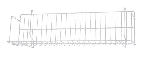 24 x 6 x 6 ½ inch White CD/DVD/Cassette Shelf - for Slatwall or Pegboard ()