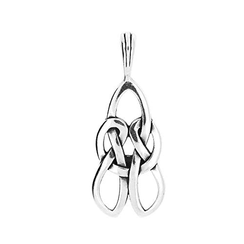 Sterling Silver Elongated Celtic Love Knot Charm OR Pendant Jewelry Making Supply Pendant Bracelet DIY Crafting by Wholesale Charms