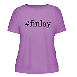 Finlay A Nice Hashtag Misses Cut Womens Short Sleeve T Shirt Lavender Large