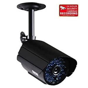 VideoSecu Bullet Security Camera Home Video CCTV Outdoor Weatherproof Day Night Vision 520TVL High Resolution with IR Cut Filter Switch 36 Infrared LEDs Bonus Bracket for DVR System IR807B D02