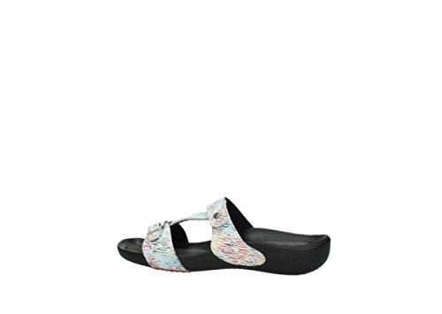 nbsp;oconnor Leder Weiß Pantoletten multi Canal Wolky Color 70980 01000 Comfort q6vv17