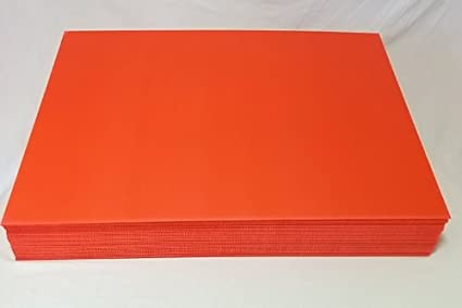 Amazon.com: Corrugated Fluted Plastic Sheet Red Color 24\