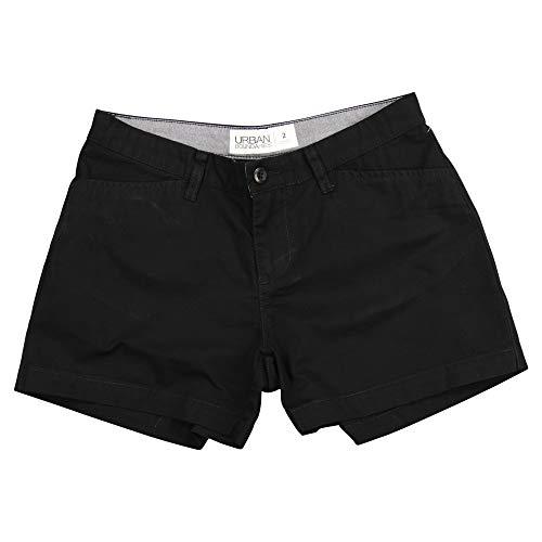 Urban Boundaries Women's Flat Front Chino Shorts (Black, 3.5