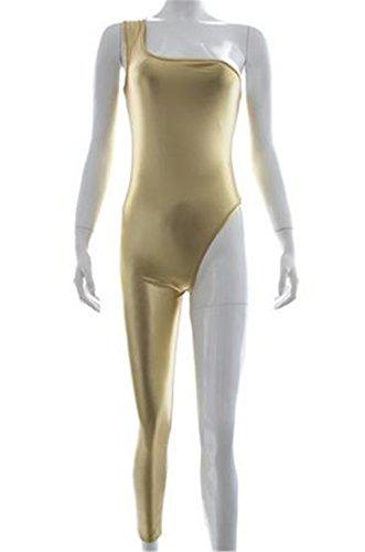 Leather Single Sleeve Jumpsuit Tight Fit Wrestling Suit Women Lingerie Flirty Costume