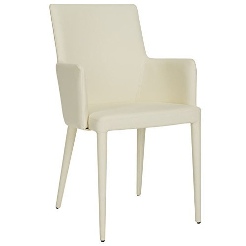 Safavieh Home Collection Summerset Mid-Century Modern Buttercream Arm Chair ()