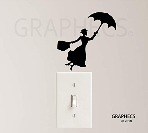Amazon Com Mary Poppins Vinyl Decal Sticker Light Switch Decor Kids