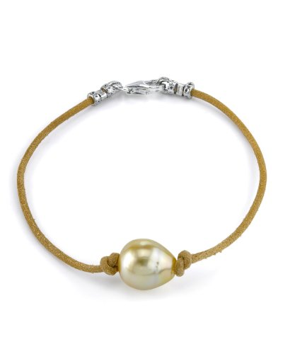 11mm-Golden-Baroque-Cultured-Pearl-Leather-Bracelet
