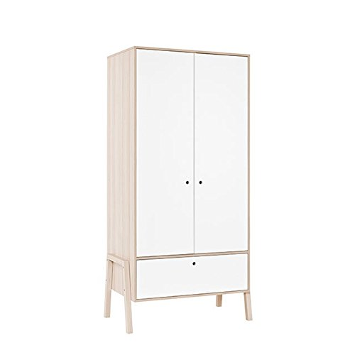 White 2 Door Wardrobe - 9