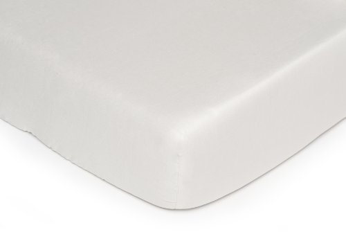 Kids Line Fitted Crib Sheet, Ecru (Discontinued by Manufacturer)
