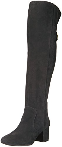 Nine West Women's Queddy Suede Over the Knee Boot, Black, 7 Medium US by Nine West
