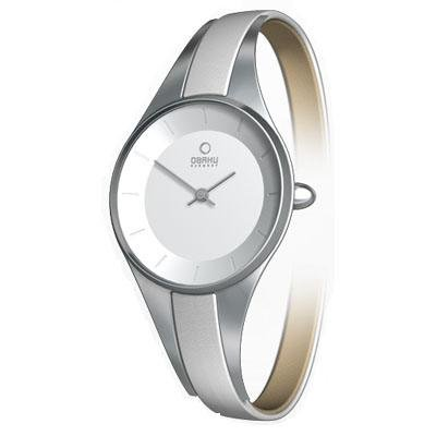 Obaku Harmony Womens Watch - White Band / White Face - V110LCIRWS-053