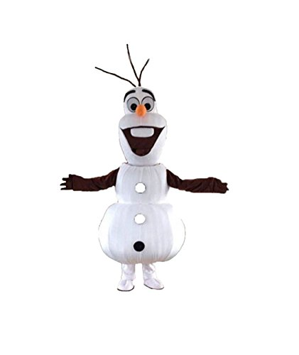 Olaf Snowman Mascot Costume Cospaly Cartoon Character Adult Size (Mascot Snowman Costume)