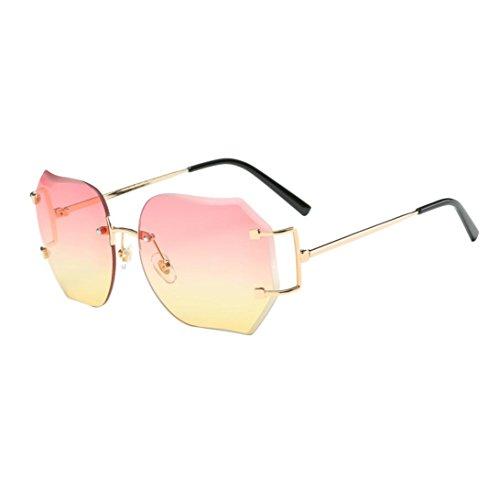 De Plaza Amarillo Moda Venmo Degradado Gafas Rosa Color color Unisex Sol Vintage Retro RUzw5qwg
