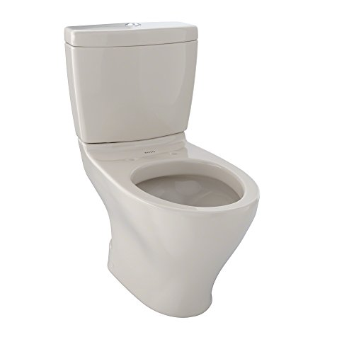 TOTO CST416M#03 Aquia II 2-Piece Toilet with Regular Height Bowl and Dual Max Tank, Bone ()