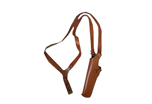 ALS454L Vertical Shoulder Holster Fits 357 Magnum 6'' & Similar Revolvers Handmade! LEFT HANDED Free Extension For Big Body Size! - Taurus Magnum 357 Revolver