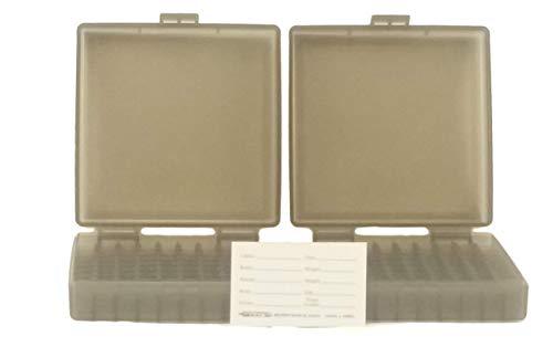BERRY'S Plastic Ammo Box, Smoke 100 Round 9MM / 380 (2)