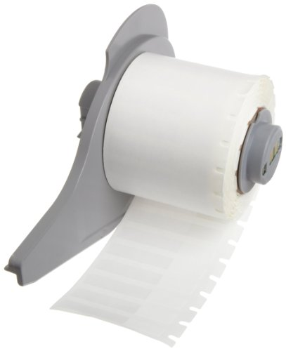 Brady M71-28-427 0.25'' Width x 1.5'' Height White/Translucent Color B-427 Self-Laminating Vinyl Labels With Matte Finish For BMP71 Label Printer (750 Per Roll) by Brady (Image #1)